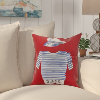 Harriet Captain Shirt Throw Pillow Color: Red, Size: 18 x 18