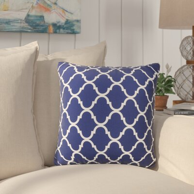 Milton Throw Pillow Color: Dark Blue