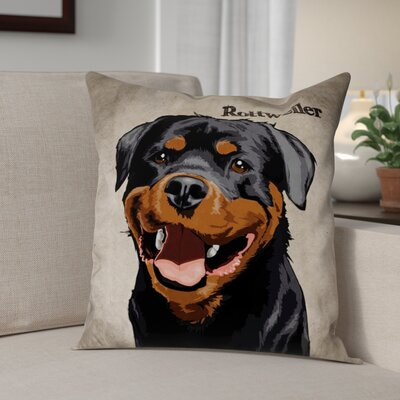 Crispin Rottweiler Throw Pillow