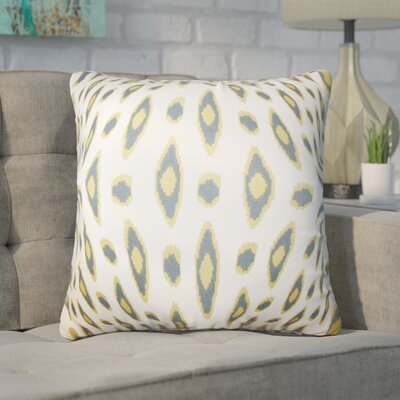 Estill Geometric Cotton Throw Pillow Color: White