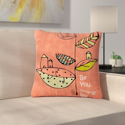 Carina Povarchik Be You Kids Outdoor Throw Pillow Size: 18 H x 18 W x 5 D