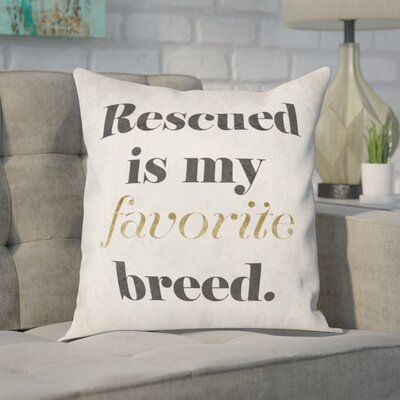 Faria My Favorite Breed Throw Pillow