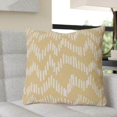 Ochoa Cotton Throw Pillow Size: 22 H x 22 W x 4 D, Color: Mocha/Beige