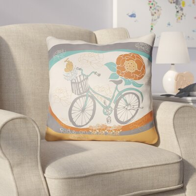 Colindale Bicycle Throw Pillow Size: 20 H x 20 W x 4 D, Color: White