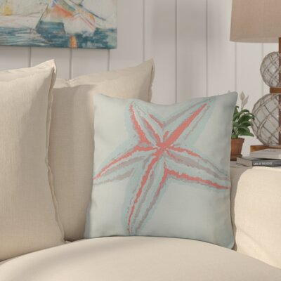 Allman Decorative Starfish Throw Pillow Size: 18 H x 18 W, Color: Coral