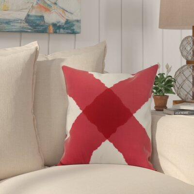 Harriet X Mark Throw Pillow Color: Red, Size: 16 x 16