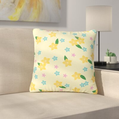 NL Designs Tropical Flowers Pattern Outdoor Throw Pillow Size: 18 H x 18 W x 5 D