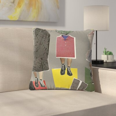 Jina Ninjjaga Fashion Pop Art Outdoor Throw Pillow Size: 18 H x 18 W x 5 D