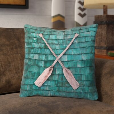Brushton Rustic Oars Throw Pillow with Zipper Size: 16 x 16