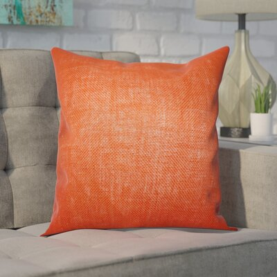 Portsmouth Solid Burlap Throw Pillow Color: Orange, Size: 18 H x 18 W