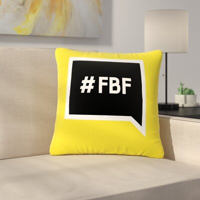 Flash Back Friday Outdoor Throw Pillow Size: 16 H x 16 W x 5 D