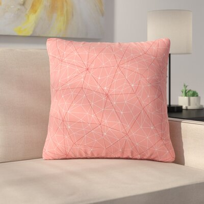 Throw Pillow Size: 18 H x 18 W x 6 D, Color: Pink