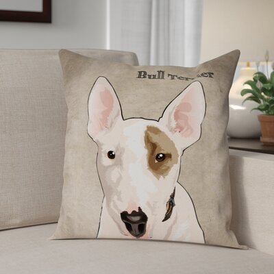 Crispin Bull Terrier Throw Pillow