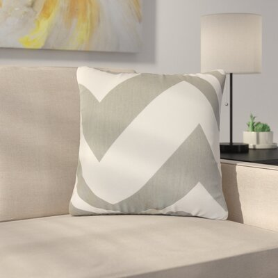 Sullivan Zigzag Cotton Throw Pillow Color: Light Gray