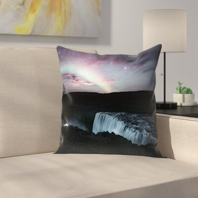 Luke Gram Dettifoss Iceland Throw Pillow Size: 16 x 16
