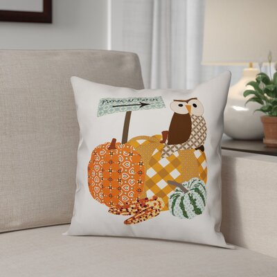 Pumpkin Patch Owl Throw Pillow Pillow Use: Outdoor
