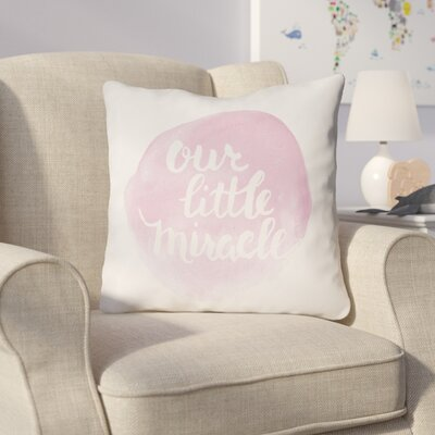 Gianna Indoor/Outdoor Throw Pillow Size: 18 H x 18 W x 4 D, Color: Pink