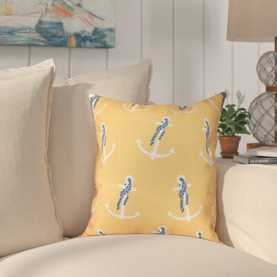 Hancock Anchor Whimsy Geometric Print Throw Pillow Size: 18 H x 18 W, Color: Yellow