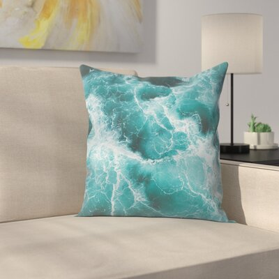 Luke Gram Electric Ocean Throw Pillow Size: 16 x 16