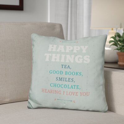 Gillham Happy Things Throw Pillow
