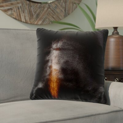 Graham Exotic Leather Throw Pillow Color: Norman