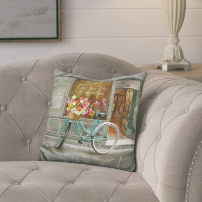 Juarez French Flowershop Throw Pillow