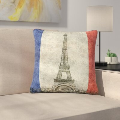 Bruce Stanfield Vintage Paris Mixed Media Travel Outdoor Throw Pillow Size: 18 H x 18 W x 5 D