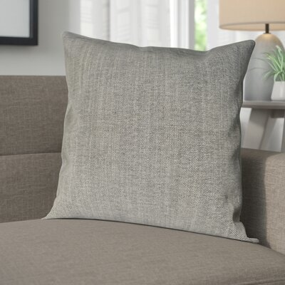 Wagaman Brentwood Woven Decorative Pillow Cover Color: Pepper