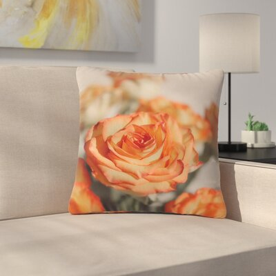 Angie Turner Roses Floral Outdoor Throw Pillow Size: 16 H x 16 W x 5 D