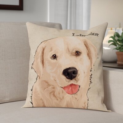 Crispin Labrador Throw Pillow