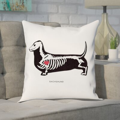Faria Dachshund Xray Throw Pillow