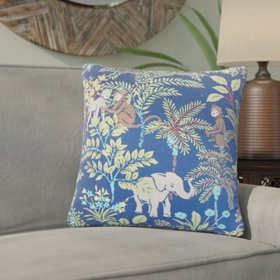 Zaid Foliage Cotton Throw Pillow Color: Blue