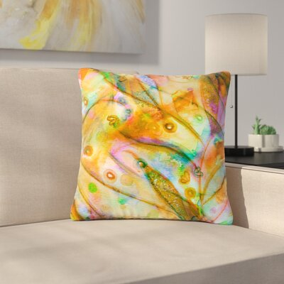 Ebi Emporium Floral Outdoor Throw Pillow Size: 18 H x 18 W x 5 D, Color: Yellow