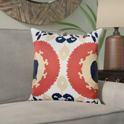 Meetinghouse Boho Outdoor Throw Pillow Size: 20 H x 20 W, Color: Coral