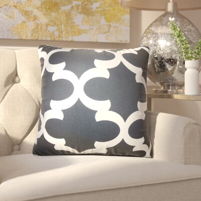 Chitwood Geometric Cotton Throw Pillow Color: Brown
