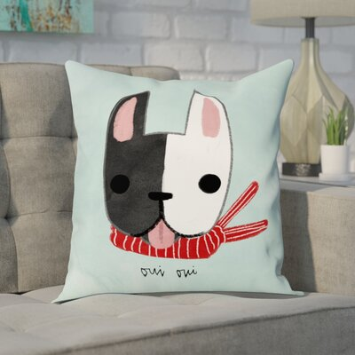 Faria Oui Oui Frenchie Throw Pillow