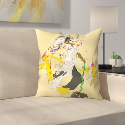 Kasi Minami Susanoo Throw Pillow Size: 14 x 14