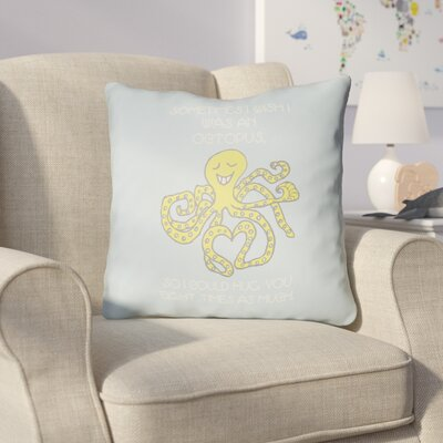 Colindale Octopus Throw Pillow Size: 18 H x 18 W x 4 D, Color: Light Blue