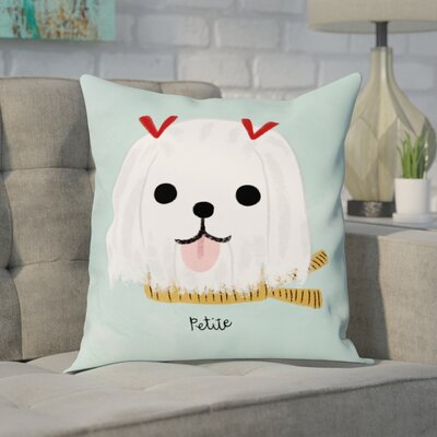 Kimbro Petite Maltese Throw Pillow