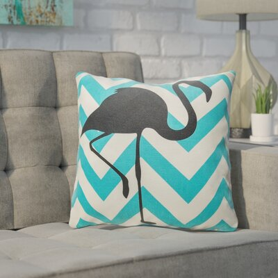 Buckwalter Chevron Flamingo Throw Pillow