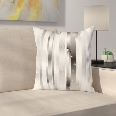 Bands Star Figures Square Cushion Pillow Cover Size: 20 x 20