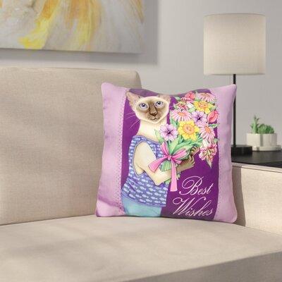 Siamese Flowers Throw Pillow