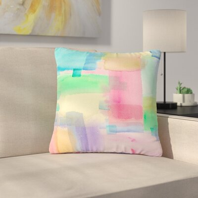 Catherine Holcombe Watercolor Brushstrokes Modern Outdoor Throw Pillow Size: 18 H x 18 W x 5 D
