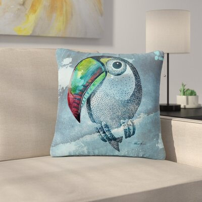 Ivan Joh Tucan Outdoor Throw Pillow Size: 18 H x 18 W x 5 D