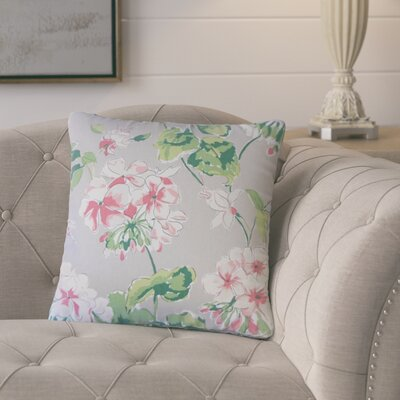 Bethzy Floral Cotton Throw Pillow Color: Gray