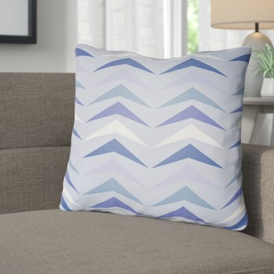 Wakefield Contemporary Square Throw Pillow Size: 18 H x 18 W x 4 D, Color: Blue