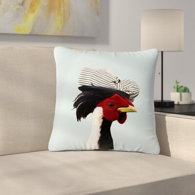 Natt Madame Cocco - Illustration Pop Art Outdoor Throw Pillow Size: 18 H x 18 W x 5 D