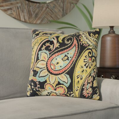 Canoga Throw Pillow Color: Noir