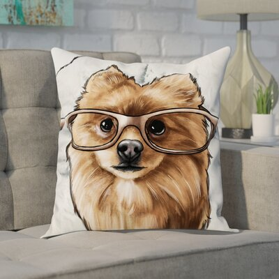 Steller Glasses and Fluff II Throw Pillow