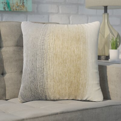 Wigington Ombre Down Filled Throw Pillow Size: 24 x 24, Color: Charcoal